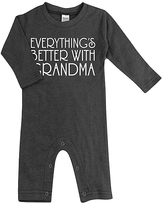 Urban Smalls Charcoal 'Everything's Better at Grandma's Playsuit - Infant