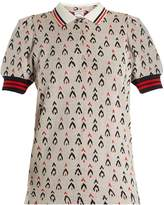The Upside Becker Witch Mountain-jacquard cotton polo top