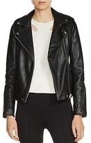 Maje Madone Leather Biker Jacket