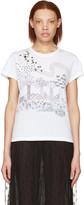Valentino White Embroidered Birds T-shirt