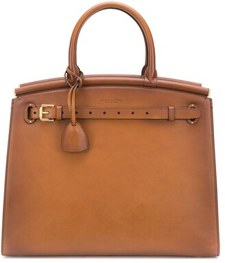Ralph Lauren Collection Large Top Handle Tote Bag