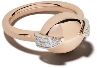 Botier 18kt rose gold Earth diamond ring