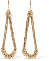 Aurelie Bidermann Alhambra Gold-plated Earrings - one size