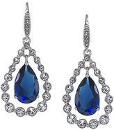 Carolee Uptown Recolor Sapphire Drop Earrings