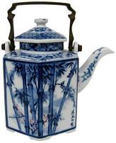 One Kings Lane Vintage Japanese Teapot - Retro Gallery - blue/white