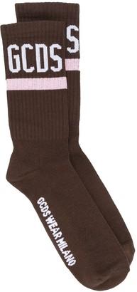 GCDS Logo Print Socks