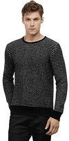 Kenneth Cole Bird's Eye Print Sweater