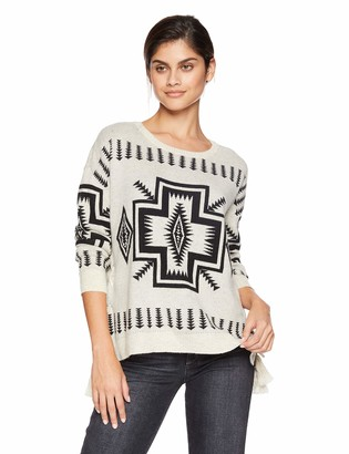 Chaser Women's Vintage Trading Blanket Sweater L/S LACE-UP Sides Dolman PUL