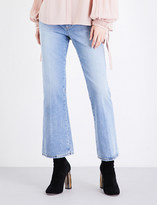 Alexander McQueen Kickback-flare cropped mid-rise jeans