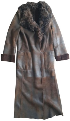 Sylvie Schimmel Brown Shearling Coat for Women