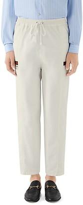 Gucci Cotton Canvas Label Pants