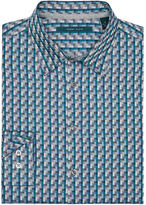 Perry Ellis Colorful Rectangle Dobby Shirt