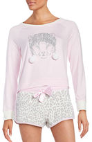 Juicy Couture Lets Get Frosty Printed Long Sleeved Tee and Shorts Sleep Set
