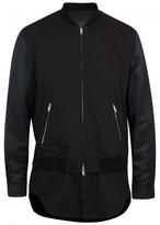 3.1 Phillip Lim Black Cotton Blend Bomber Jacket