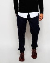 Asos Tapered Joggers In Wool Look