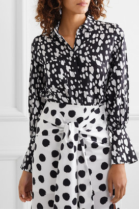 Mother of Pearl Net Sustain Miles Faux Pearl-embellished Printed Lyocell Shirt - Black