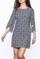Aryeh Abstract Print Dress