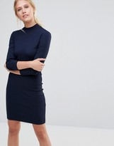 Pieces Perla Ribbed Long Sleeve Bodycon Dress
