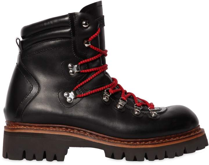 DSQUARED2 50mm Leather Hiking Boots