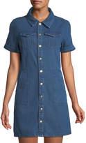 Alexia Admor Denim Button-Front Shirtdress