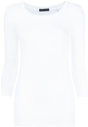 ATM Anthony Thomas Melillo Modal Rib Ballet Neck 3/4 Sleeve Tee