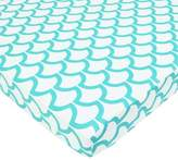 American Baby Company 100% Cotton Percale Fitted Portable/Mini Crib Sheet, Aqua Sea Waves by