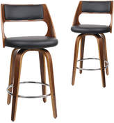 Remarkable Marcus Collection Dwellhome Set Of 2 Swivel Faux Leather Barstools On Sale For 234 From Original Price Of 587 95 At Temple And Webster Short Links Chair Design For Home Short Linksinfo