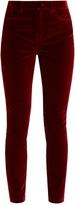 Dolce & Gabbana Slim-leg cotton-blend velvet trousers