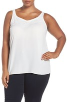 Sejour Plus Size Women's Lace Trim Camisole