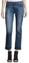 MICHAEL Michael Kors Raw-Edge Straight-Leg Jeans, Vintage Blue Wash