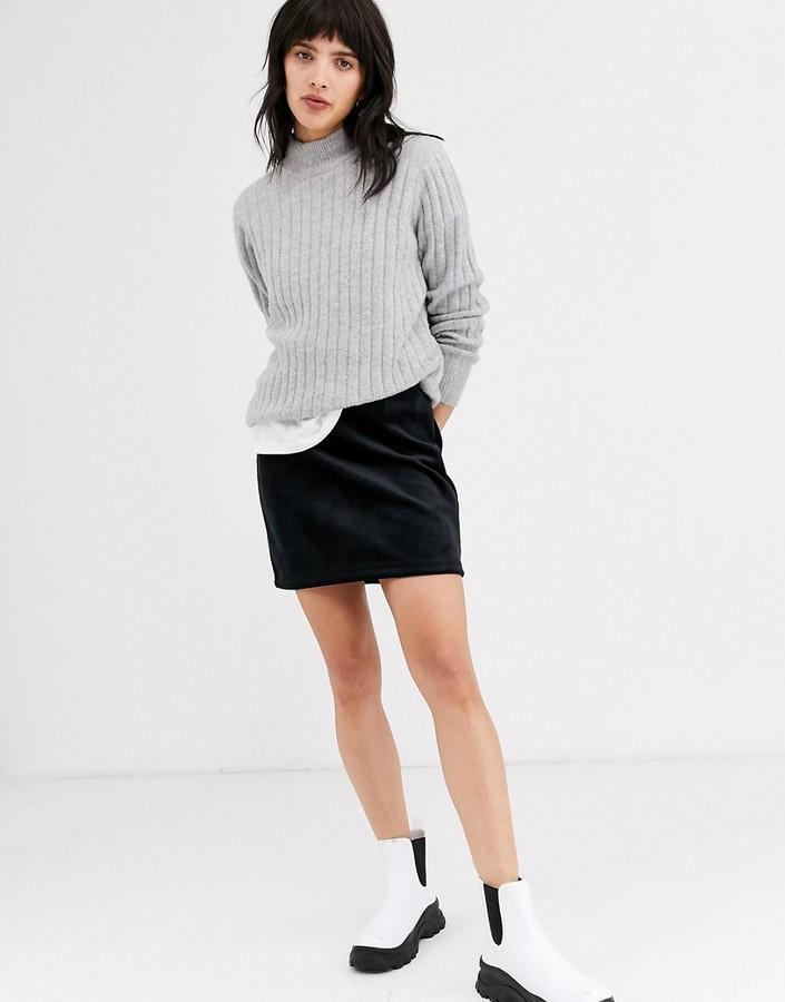 Weekday Kathy Mini Skirt in Black