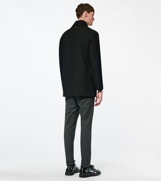 Andrew Marc Burnett Melton Wool Coat