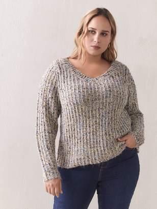 Short Knit Sequin Sweater - Addition Elle