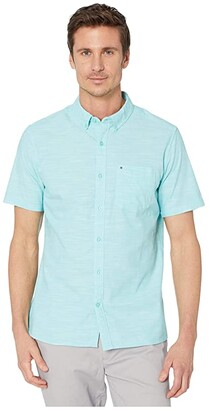 Hurley One Only 2.0 Short Sleeve Woven (Aurora Green) Men's Clothing