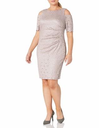 Jessica Howard Women's Size Cold Shoulder Sheath