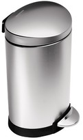 Simplehuman studio 10 Liter Semi-Round Step Trash Can - Stainless Steel