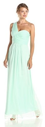 Minuet Women's One Shoulder Straight Maxi Gown