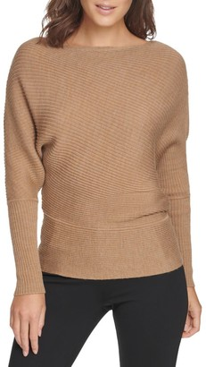 Donna Karan Dolman Merino Wool-Blend Sweater