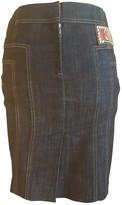 Christian Lacroix Navy Cotton - elasthane Skirt for Women Vintage