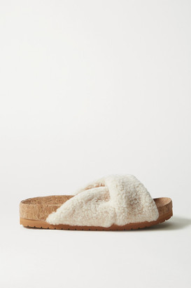 Vince Goran Shearling Slides - Cream