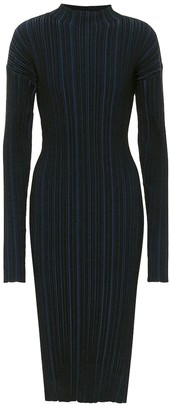 Acne Studios Ribbed cotton-blend midi dress