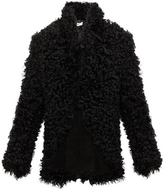 Ann Demeulemeester Single-breasted Shearling Jacket - Black