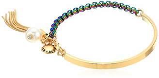 BCBGeneration BCBG Generation Women's Rainbow Link Tassel Charm Bangle Bracelet