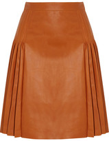 Givenchy Pleated Leather Skirt - Light brown