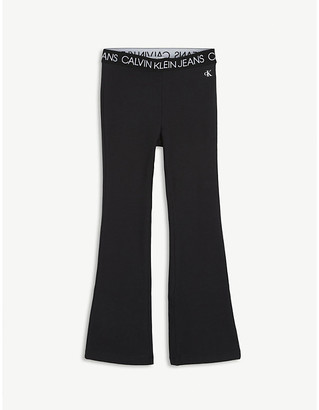 Calvin Klein Jeans Flared cotton-jersey leggings 4-16 years