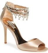 Badgley Mischka 'Denise' Crystal Embellished Ankle Strap Sandal (Women)