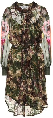 Preen by Thornton Bregazzi Octavia silk-blend camouflage dress