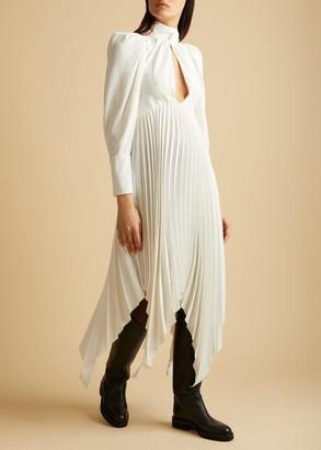 KHAITE The Bryn Dress in Ivory
