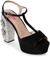 Betsey Johnson Black Ferra Platform Heels