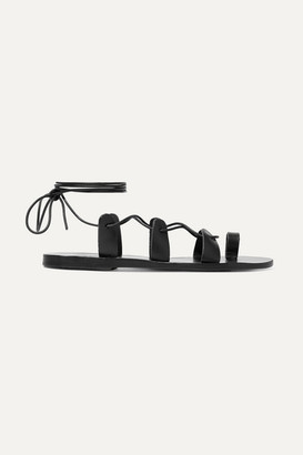 Ancient Greek Sandals Alcyone Lace-up Leather Sandals - Black